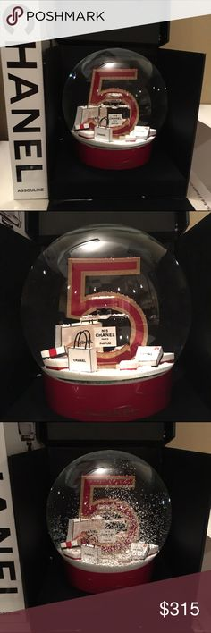 """Jumbo Chanel Snow Globe New with box- collectors snow globe. It's jumbo and measures 13"""" around. Plugs in to keep the snow swirling. FIRM ON PRICE BECAUSE OF POSHES FEE CHANEL Accessories"""
