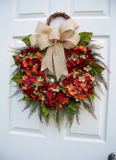 A personal favorite from my Etsy shop https://www.etsy.com/listing/528022444/fallhydrangea-wreathcaptivating