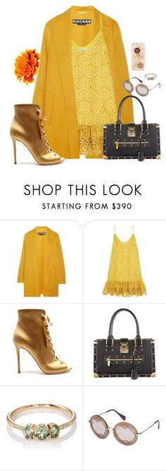 """""""I'd like... #657"""" by m-rossetti ❤ liked on Polyvore featuring Rochas, Alexis, Gianvito Rossi, Louis Vuitton, Jennie Kwon, Miu Miu, Dolce&Gabbana and marigold"""
