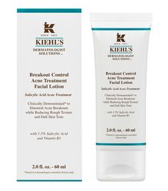 Experience rejuvenated facial skin free of acne breakouts & smooth even skin tone. Discover Kiehl's Acne Treatment Facial Lotion with natural gentle ingredients