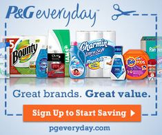 Have you signed up for P&G Brandsaver yet? If no, be sure to sign up for access to coupons and free samples every quarter.