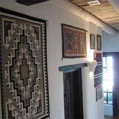 Navajo Rug As A Wall Hanging Creates A Lot Of Visual