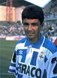 Bebeto com o camisa do La Coruña