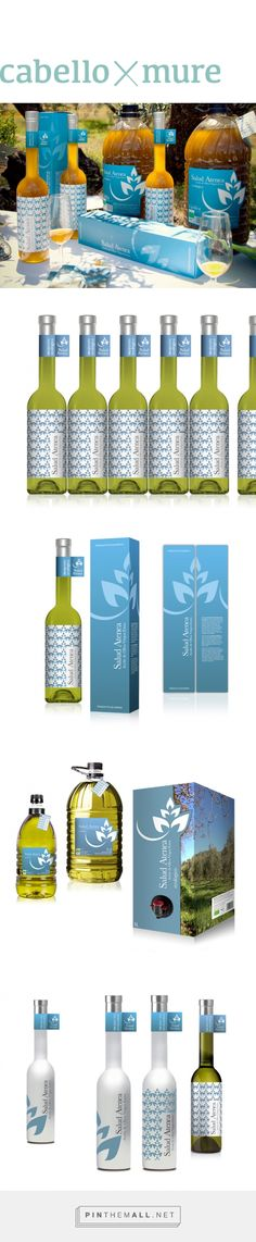 Diseño para aceite de oliva virgen extra ecológico Salud Atenea - Cabello x Mure via Isabel Cabello Studio curated by Packaging Diva PD A beautiful collection of olive oil packaging.