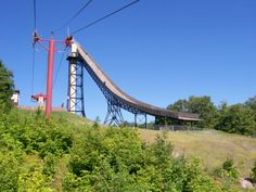 Copper Peak Ski Jump, Ironwood, Michigan. My Grandpa bulldozed up the hill for them to build the jump