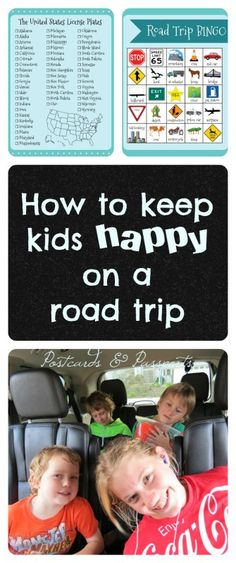 This blog has free printables and LOTS of ideas for keeping your kids happy in the car!