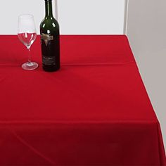 Deconovo Oxford Decorative Tablecloth Wipe Clean Plain Rectangle Waterproof Tablecloth for Kitchen Table 137x200cm Inch Red: Amazon.co.uk: Kitchen & Home