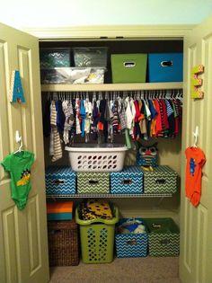 Ideas kids closet organization ideas small spaces hooks for 2019 Organizar Closet, Boys Closet, Closet Space, Closet Organization, Organization Ideas, Interior Exterior, My New Room, Organizer, Boy Room