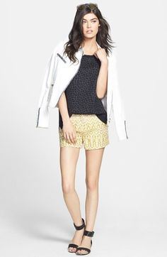 7 For All Mankind® Jacket, Trouvé Top & Maison Scotch Shorts  available at #Nordstrom