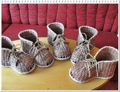 návod na botu | Pletení z papíru