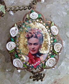 Lilygrace White Rose Frida Kahlo Cameo by LilygraceOriginals, $130.00