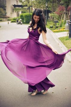 Love this dress and the color! #radiantorchid