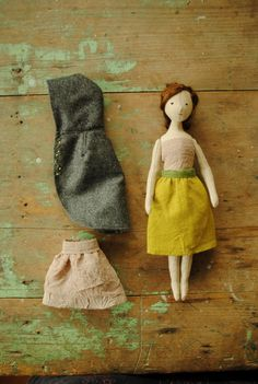 cloth doll / girl with woolen by willowyn