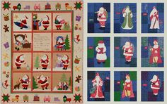 Christmas Quilts featuring Santa