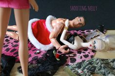 Home early honey!? Bad barbie and action man Christmas card note by Shootingnelly