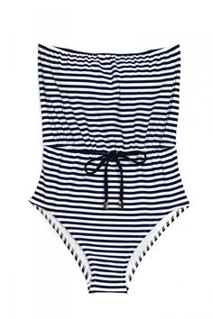 30 runway-inspired bathing suits for this #summer: Kushcush Lovey Jumper #Striped One Piece, $165. See more #swimsuits here » http://www.fashionmagazine.com/blogs/fashion/2013/05/27/swim-2013/