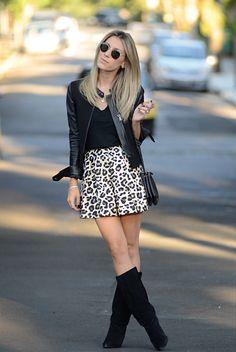 Glam4You por Nati Vozza | Meu look: Leopard Skirt