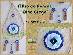 Versão origamistica do famoso símbolo Grego de proteção. Origami, Floral, Washer Necklace, Turquoise Necklace, Crafts, Jewelry, Verses, Manualidades, Jewlery