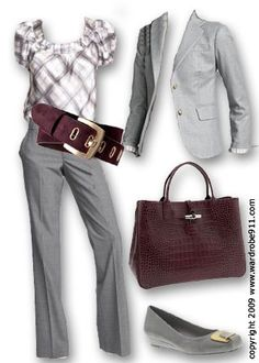 I've never owned grey dress clothes but I like this look! Business.