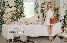 「マルベリー」の2014年春夏広告は、カーラと動物たちのティーパーティ | BRAND TOPICS | FASHION | WWD JAPAN.COM