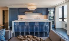 all in one kitchen unit cabinets oven faucet island transparent chairs windows ceiling lights transitional room of Wonderfully Cool All in One Kitchen Unit Choices Homeowners Can Get Today