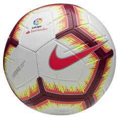 nike authentic soccer ball of La liga LFP strike version size Nike Aerowtrac slots and design for accurate and authentic flight. Football Shoes, Football Soccer, Soccer Ball, Cr7 Messi, Neymar Jr, Football Equipment, Nike Original, Soccer Training, Champions League