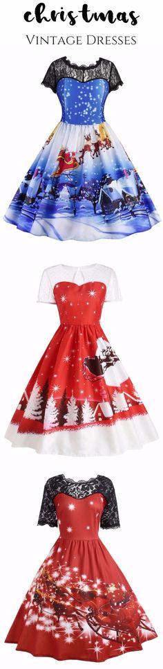 Christmas vintage dresses