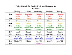 38 best kindergarten daily schedule images on pinterest classroom kindergartendailyscheduletemplate daily schedule for grades pre k and maxwellsz