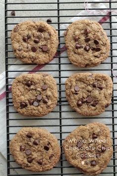 Best EVER whole wheat chocolate chip cookies {soaked flour}