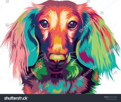 Find Dachshund Dog Pop Art Longhaired Miniature stock images in HD and millions of other royalty-free stock photos, illustrations and vectors in the Shutterstock collection. Thousands of new, high-quality pictures added every day. Arte Dachshund, Arte Pop, Dog Pop Art, Colorful Animals, Dog Portraits, Art Pictures, Lion Sculpture, Artist, Painting