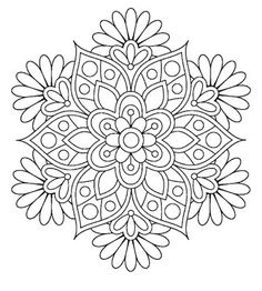 Adventurous Applique And Quilting Mandala Inspiration Coloring Pages Pattern Flower
