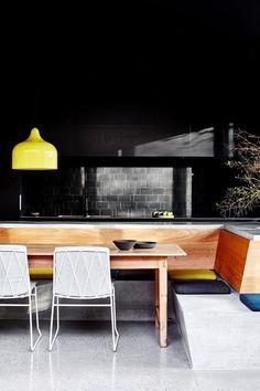 Mission Style Homes, Colonial Style Homes, Australian Interior Design, Interior Design Awards, Built In Furniture, Outdoor Furniture Sets, Kitchen Island Bench, Timber Screens, Concrete Kitchen