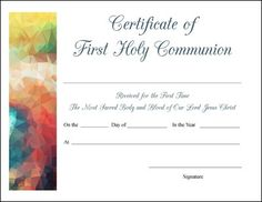 Simple certificate templates pack certificate of participation free printable baptism first communion and confirmation certificates yadclub Choice Image