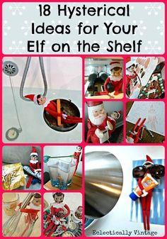18 Hysterical Ideas for Elf on the Shelf http://kellyelko.com