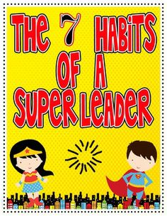 7 Habits of a Super Leader Poster Set