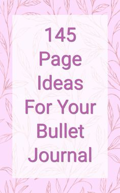 Collections and lists are my favorite part of bullet journals! I gathered 145 ideas to make your bullet journal fun and functional. #bulletjournal #bujo