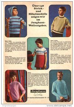 Original-Werbung/ Anzeige 1968 - ANZEIGENSTRECKE 6 SEITEN JUNGHANS-WOLLE -  jeweils ca. 120 x 170 m