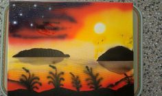 Airbrush sunset