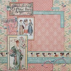 Beautiful A Ladies' Diary layout! #graphic45