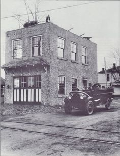 Jeffersontown Municipal Building, Jeffersontown, Ky.,  First floor was the fire station, second floor was City Hall and the library. 1920's