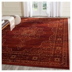 Amelia Area Rug - Ruby/Gold (4' X 6') - Safavieh, Red/Red