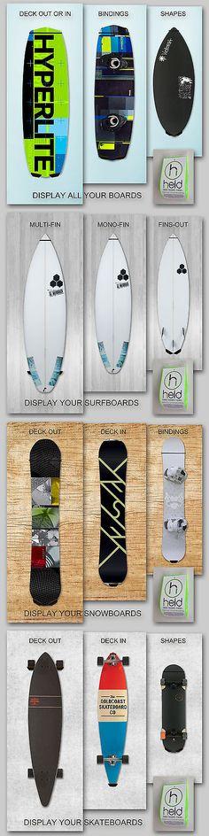 Skimboards 155141: Skim Board Rack, Held Board Rack, Surfboard Rack, Snowboard Rack, Wakeboard Rack -> BUY IT NOW ONLY: $49 on eBay!