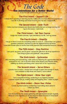 Ten Intentions for a Better World