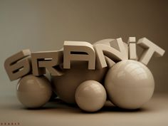 3D text by ~one-piece-finder on deviantART - 3D Typography Design Modelling