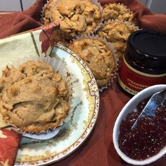 Gluten free polenta apple muffins #glutenfreelife #baking #muffins #apples #coconutsugar #glutenfreemuffins #glutenfreebaking #breakfast #polenta #glutenfreeflour #marmelade # by divine_cuisine_by_jocelyne