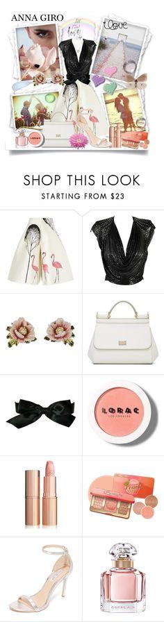 """All You need is love"" by annagiro ❤ liked on Polyvore featuring Vika Gazinskaya, Les Néréides, Dolce&Gabbana, Chanel, LORAC, Rachel Zoe, Guerlain and Swarovski"