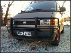 VWVortex.com - The lightweight (rust) heavyweight (bars) euro'd out Eurovan 2.5 manual fun project.