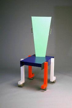 Bevel and Boss - peter shire Chaise unique | chaise contemporaine | design chair | design | unique style | different | colorful | memphis style