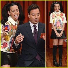 "Katy Perry On ""Jimmy Fallon"" Show!"
