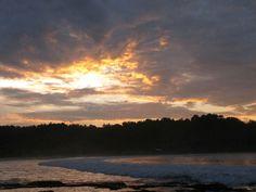 Sunset in sawarna